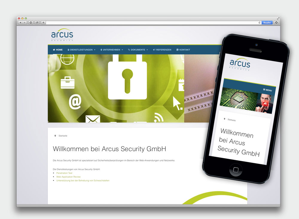 Arcus Security Website
